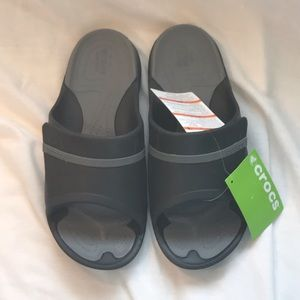Brand new Men's Slip on Crocs flip flops
